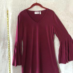 ATTITUDES by RENEE Raspberry Bell Sleeve Tunic